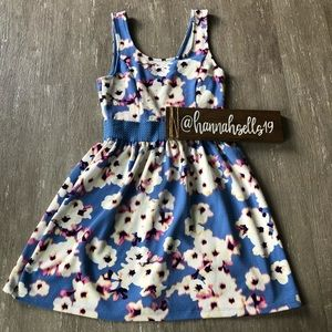 Trixxi Floral Fit and Flare Dress Size Medium